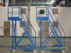 warehouse ladders on wheels