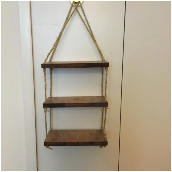 wooden ladder bookcase