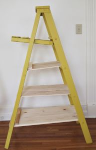wooden ladder display