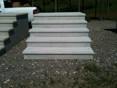 cast concrete steps