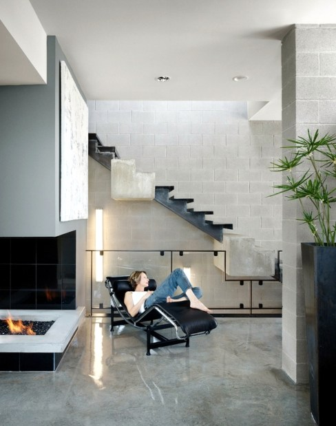 concrete stairs design indoor