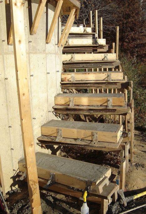concrete stairs diy