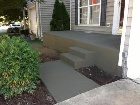 concrete stoop