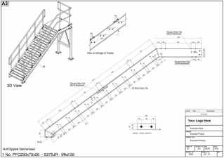 metal stair design example