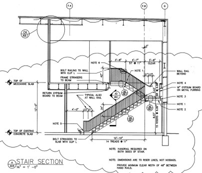 metal stairs design details