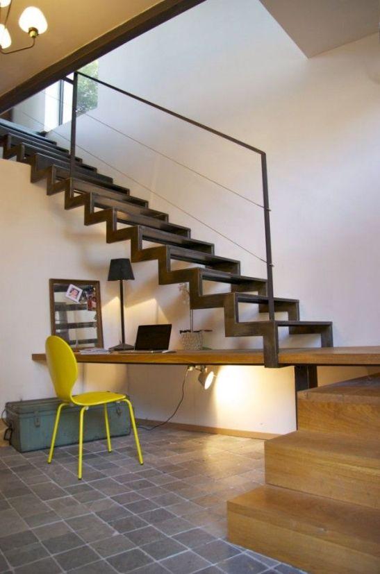 open terrace metal stairs design