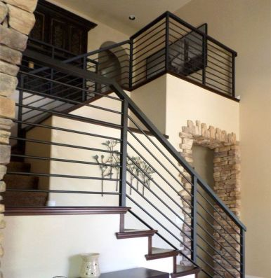 metal stairs with handrail_17