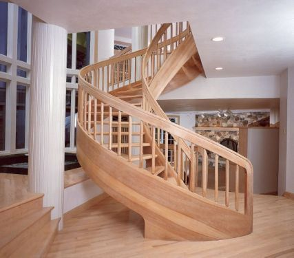 solid wood spiral stairs_5