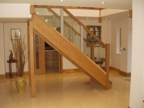 solid wood staircase manufacturers_14