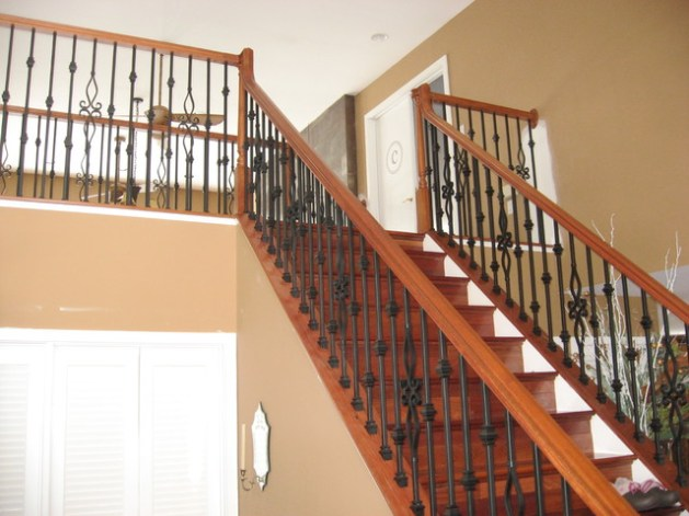 wood stairs with metal spindles_11