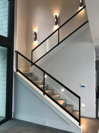 glass railings for stairs images_8