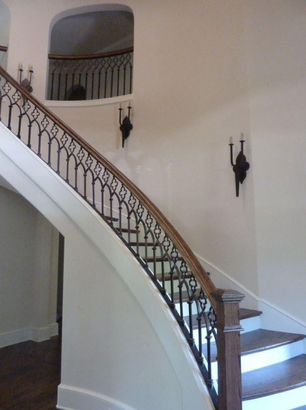 hand forged stair railing_60 - Staircase design