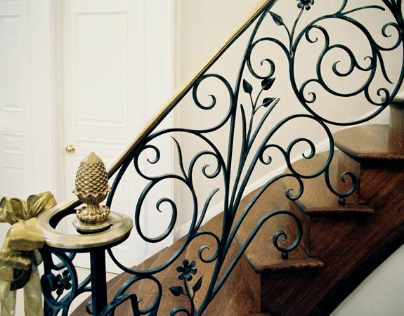Luxury forged stair railings_3
