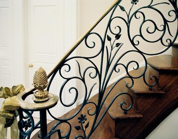 Luxury forged stair railings_3
