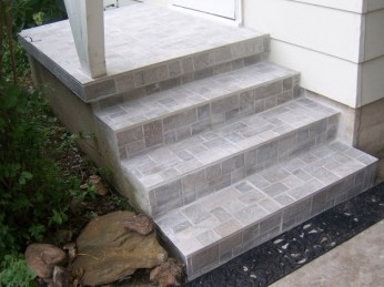 Tiles For Stairs Outdoors Tile Concrete Steps Photos 05