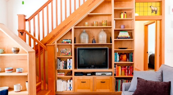 The space under the stairs, design, photos