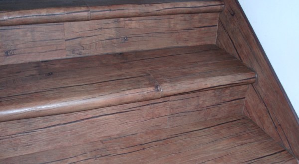 Decorative finishing concrete stair