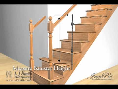 how to install balusters on angle_16