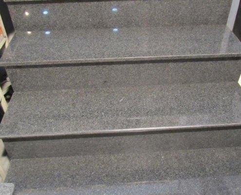 Monolithic granite steps