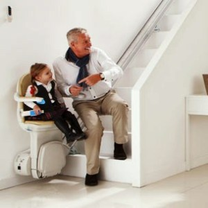 Using a Stair Lift is Easy in Your Atlanta Home - Even a Child Can Do It! (Image via Handicare)