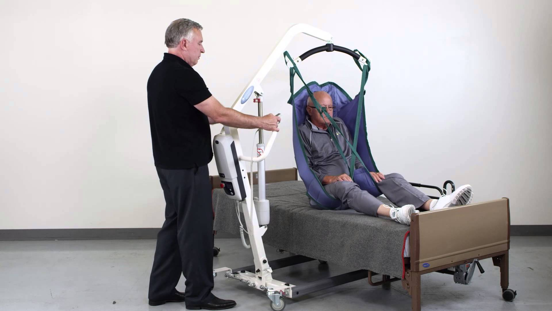 Portable Chair Lift Client Lift Transfer From Bed To Chair Acorn Stairlifts Home