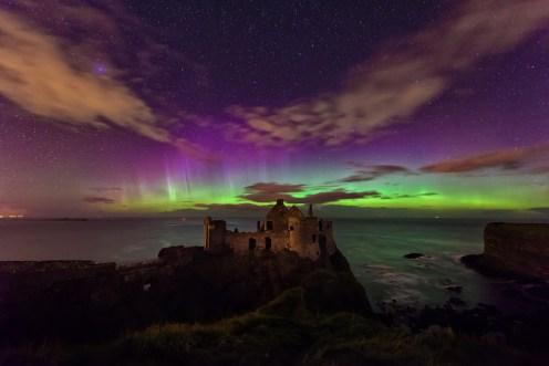 Dunluce Castle Aurora, Antrim Coast