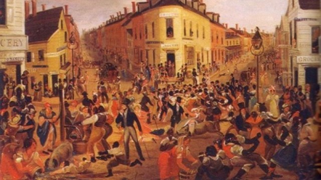 #OTD in 1863 – Large numbers of Irish immigrants are involved in Draft Riots in New York City.