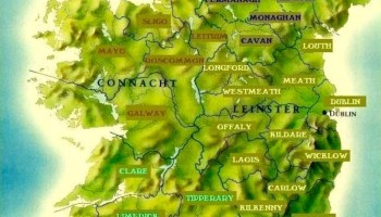 Map Of Ireland 32.How And When The 32 Counties Of Ireland Formed Stair Na Heireann