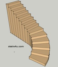 Strait Stairs With Curved Bottom Design