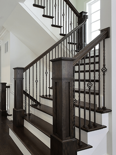 Homepage Stair Solution | Handrails For Stairs Interior | Staircase Handrail | Rectangular Tube | Residential | Barnwood Rustic | Industrial
