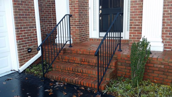 Outdoor Stair Railings Handrails for Brick Steps