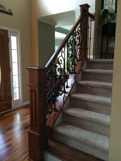 small resolution of iron panel with box newel