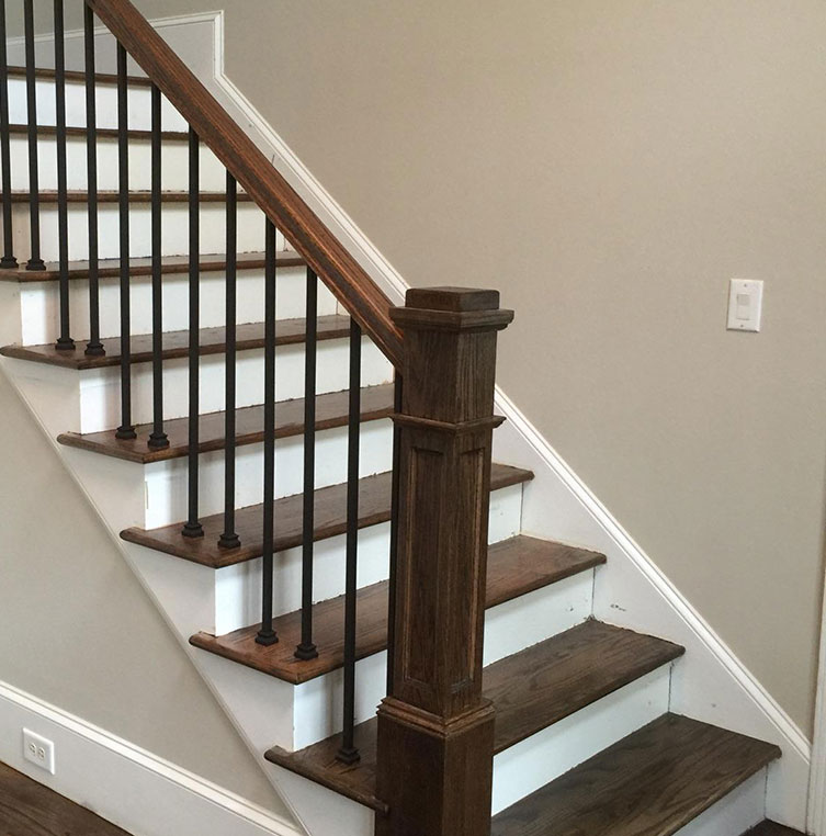 Image Result For Wood And Metal Stair Railing