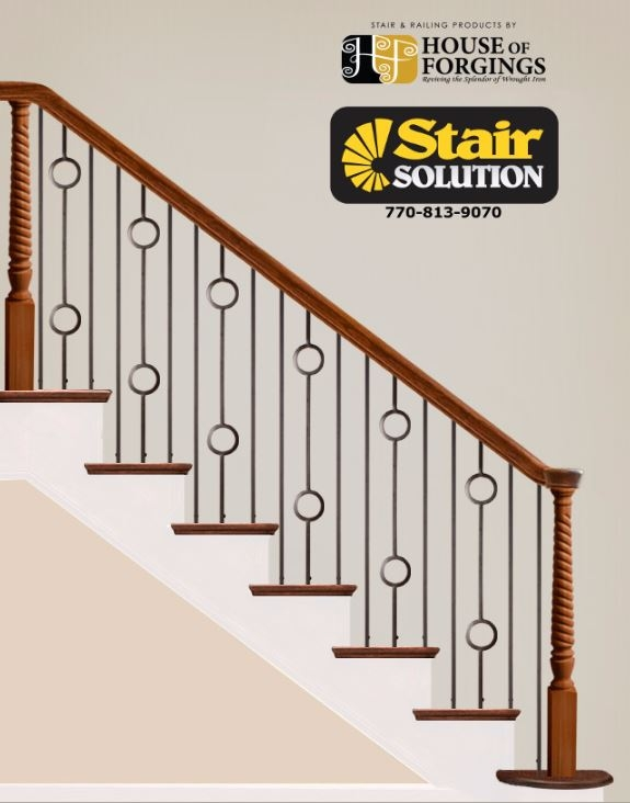 Iron Balusters Gallery Stair Solution | Wrought Iron Baluster Designs | Rot Iron Staircase | Rod Iron | Metal Rail | Stair Railing | Replacement
