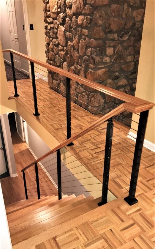 Modern Railing Systems In Wood Cable Wire Stainless Steel Glass | Metal Wire Stair Railing | Handrail | Contemporary | Balcony | Steel Structure | Indoor
