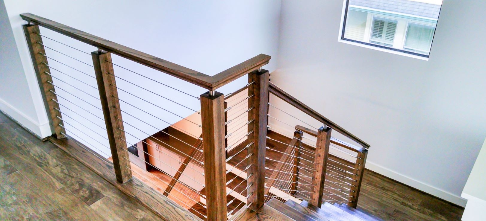 Modern Railing Systems In Wood Cable Wire Stainless Steel Glass | Modern Wood Staircase Railing | Interior | Stylish | Wall Mounted | Contemporary | House