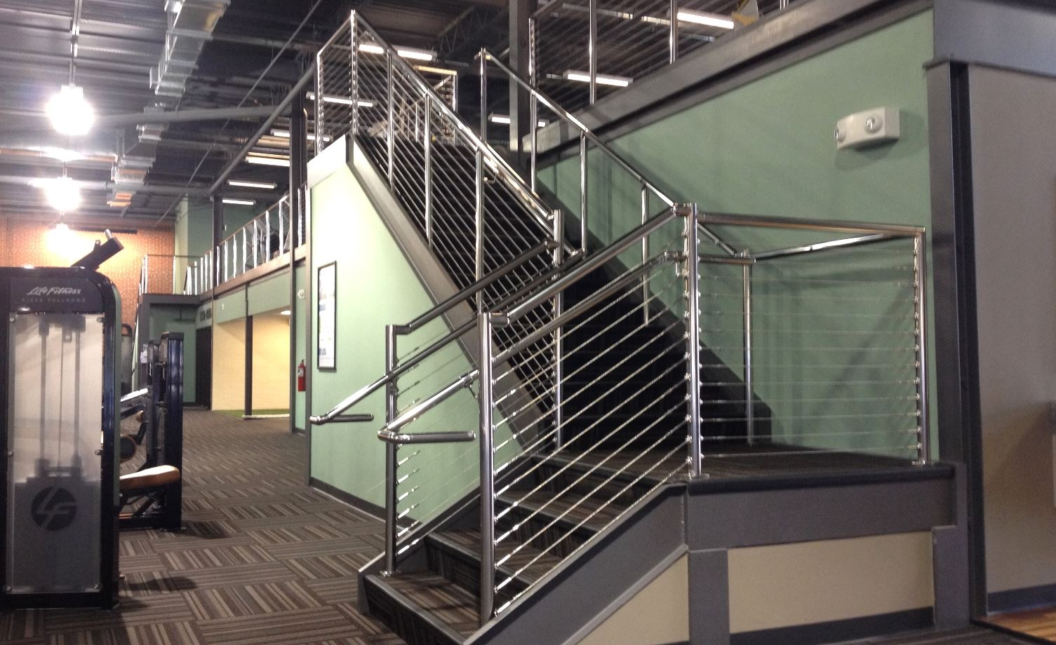 Commercial Stair Railing Stair Solution 6 Stair Solution   Commercial Handrails And Railings   Metal   Wood   Guardrail   Pipe Railing   Stainless Steel Railing
