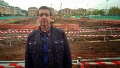 Nuestro Delegado de STAJ Diego Guillén junto a las obras