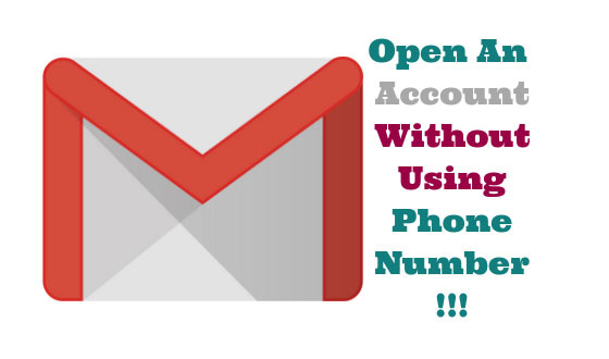 Open Account Without Using Phone Number