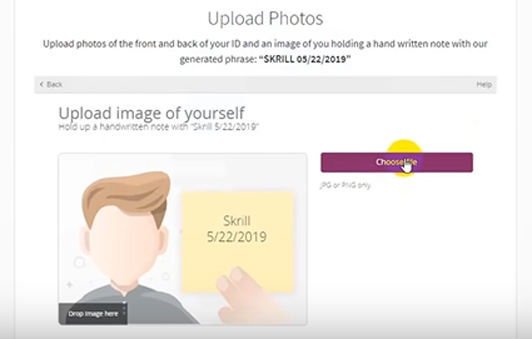 Option to upload image of yourself