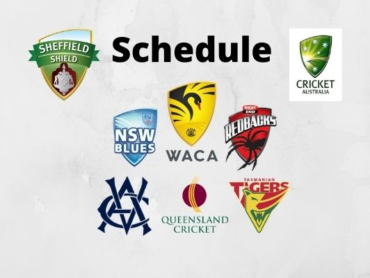 Sheffield Shield 2020-21, Test Match Schedules