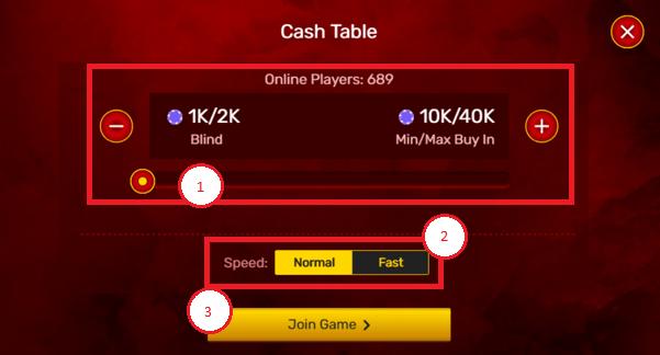 Cash table next88