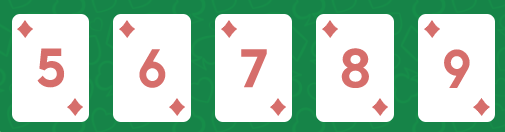 straight flush - มือใหม่ Poker