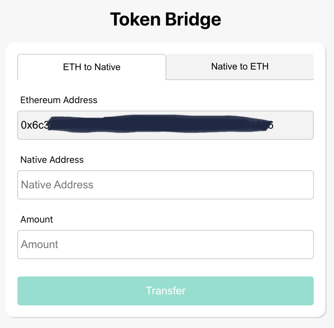 Fetch ERC-20 Token Bridge Interface