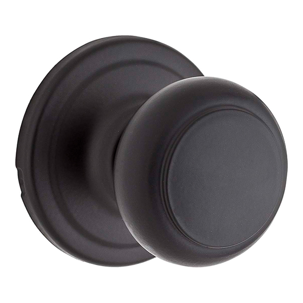 Troy Passage Knob With Iron Black Finish