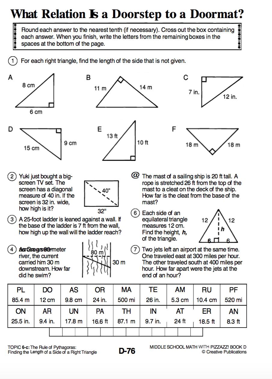 medium resolution of Pythagorean Theorem - Algebra