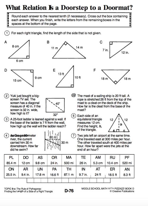 small resolution of Pythagorean Theorem - Algebra