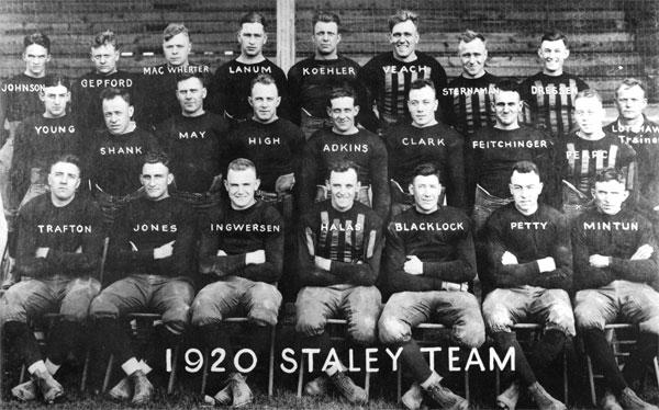 1920 Decatur Staleys Football Team, Decatur, Illinois