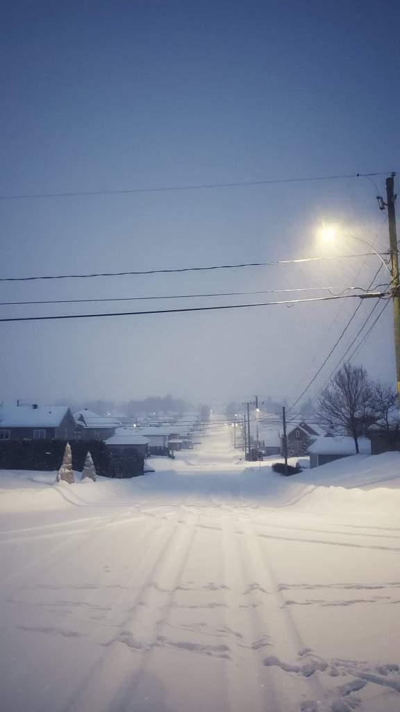 Tempête de neige au Québec