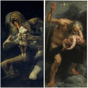 Confronto-Saturno-divora-figli-Goya-Rubens